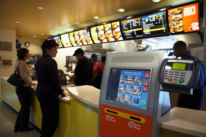 News- McDonald's Automated Ordering System Kiosk