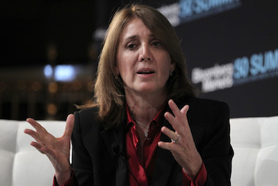 Ruth Porat speaking at a Bloomberg conference. Picture: Jin Lee (Bloomberg News – Licensed under Creative Commons)