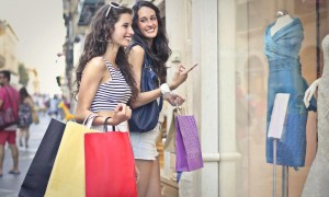 shopping in store brick and mortar