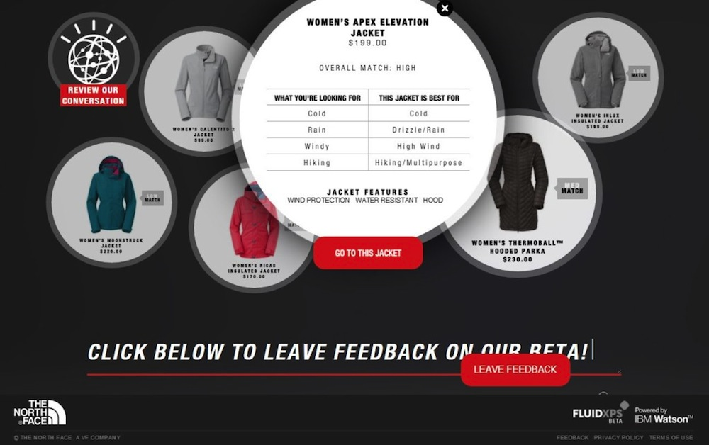 e70f37cca3 Watson Takes On eCommerce With The North Face | PYMNTS.com