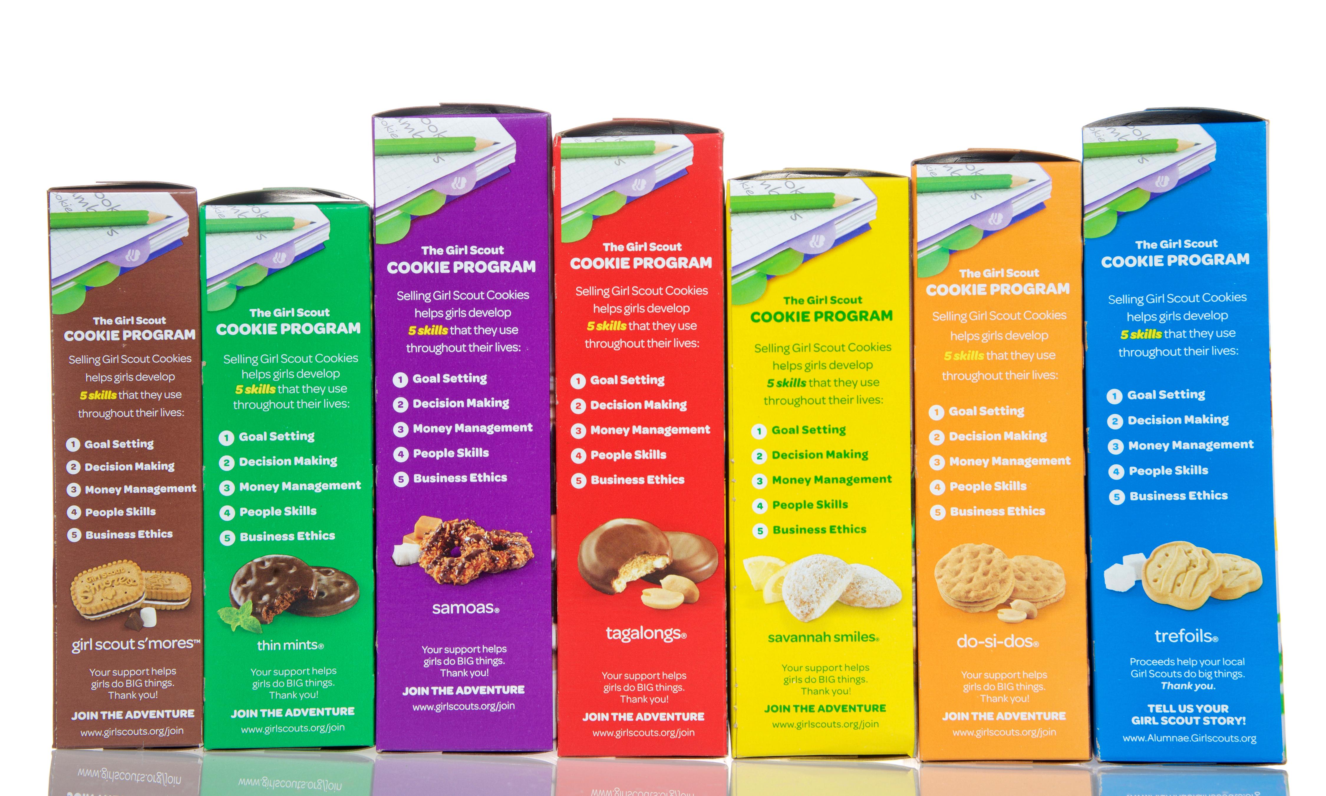 Girl scout cookies per box