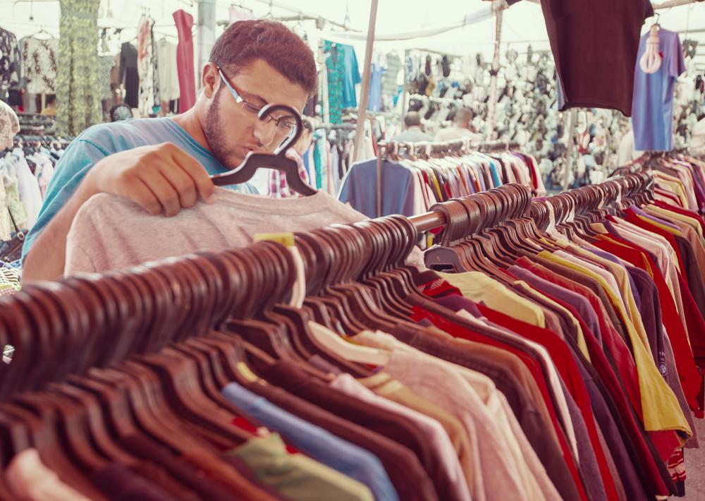 thrift shopping second hand