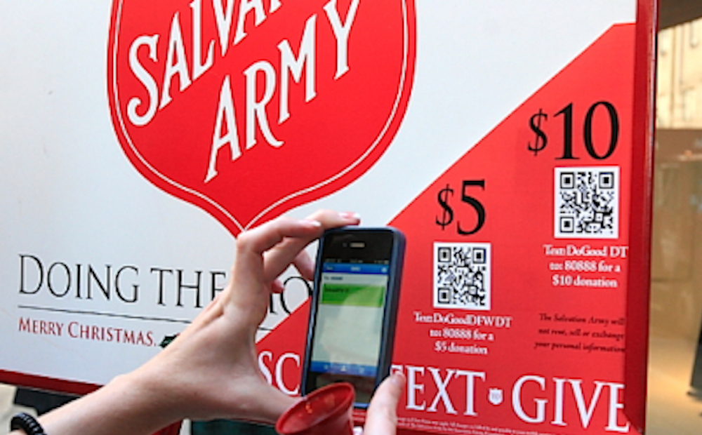 Salvation Army to Accept QR Code Donations