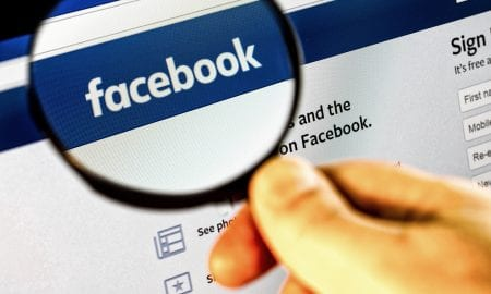 Facebook with magnifier