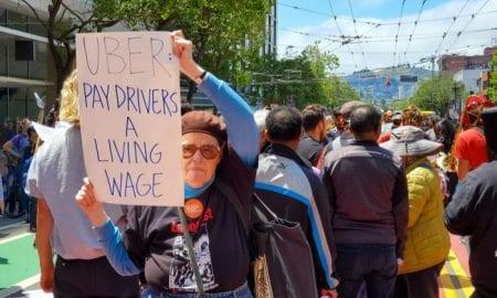 gig worker Uber protest