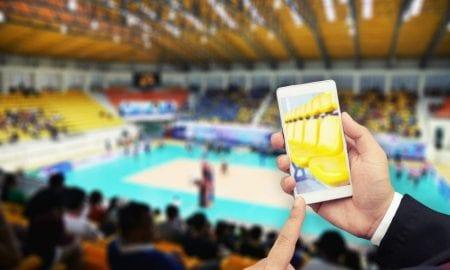 sports stadium smartphone