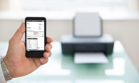 eInvoice on smartphone