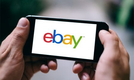 eBay on smartphone
